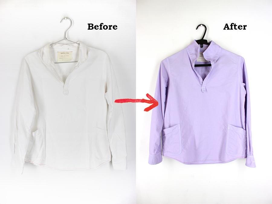 白い服を染め替え