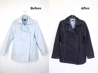 汗ジミ・皮脂汚れのある洋服も染め替えできれいに!