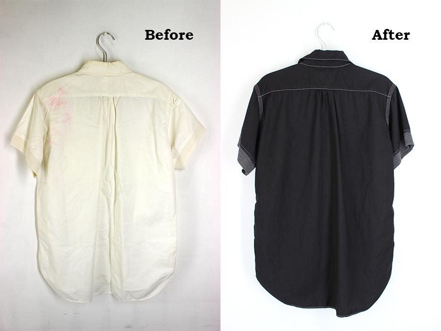 色移りしてしまった白い服も染め替えでよみがえる