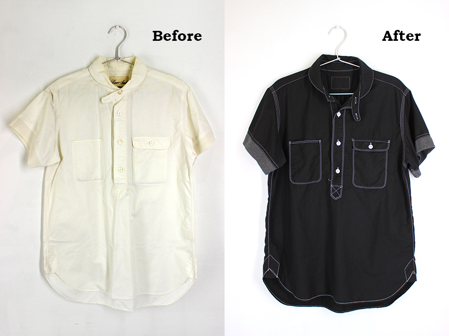 白い服に色移りしてしまったら染め替えをご利用ください