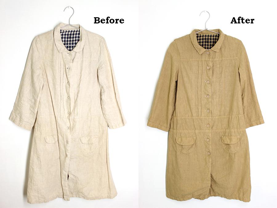 汚れのついてしまった洋服も染め替えで復活!